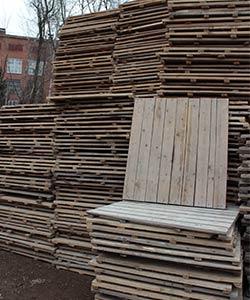 Б/У настил деревянный для рамных строительных лесов 1,05*0,95 (25мм)