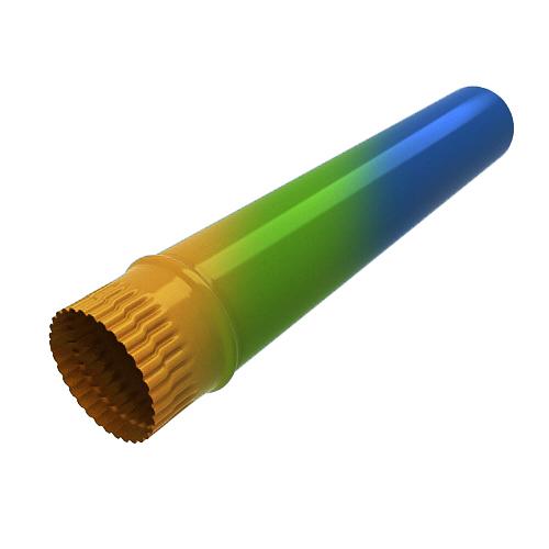 Труба 1250 мм D-125 (RAL)