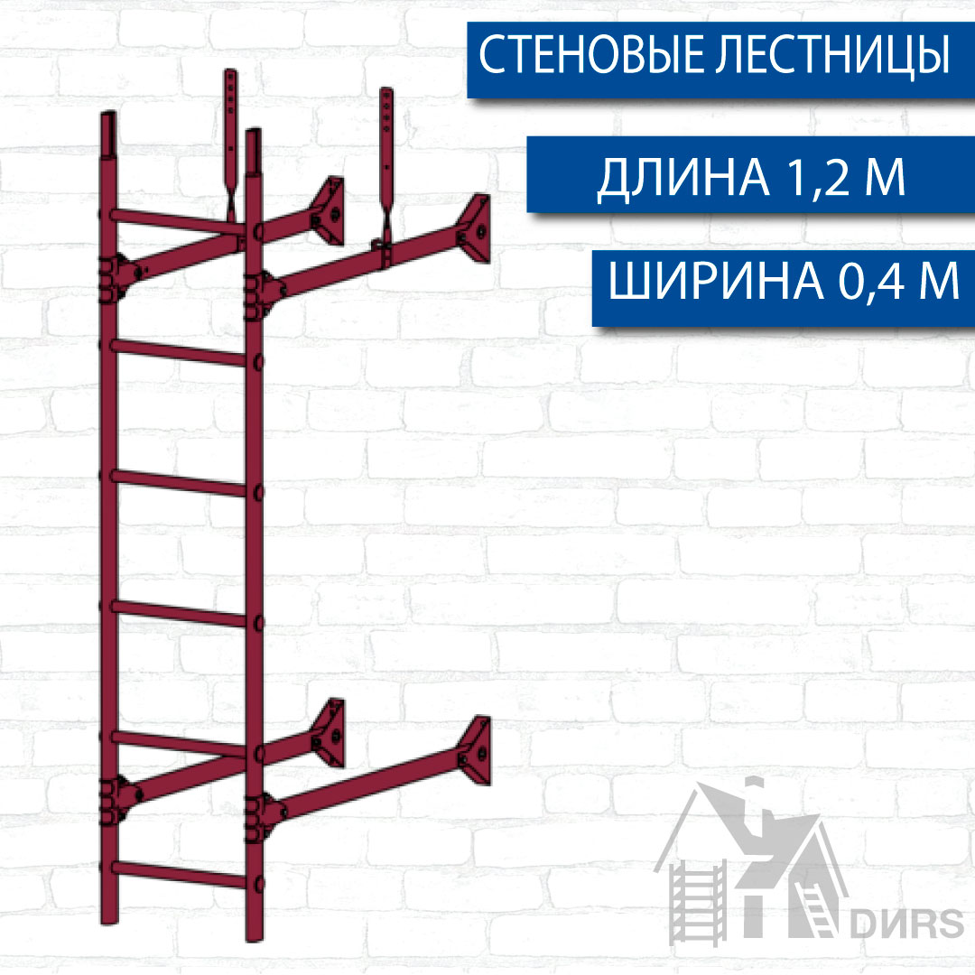 Лестница пристенная 1,2 м (RAL)