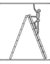 Достигаема высота лестницы в виде стремянки
