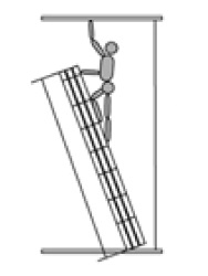 Достигаемая высота при сложенной лестнице