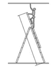 Достигаема высота лестницы двух секций